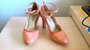 Repetto, Sandal Onora in metallic goatskin suade and goatskin suade orange