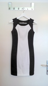 Pimkie, black and white fitted dress