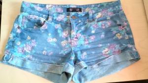 Forever 21, floral jean shorts