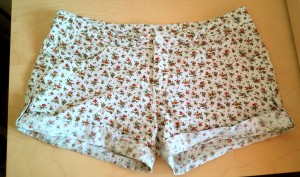 Human, floral cotton shorts