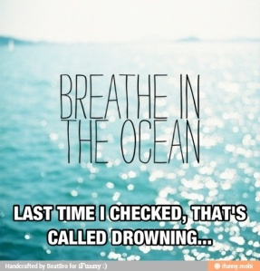 It's called drowning
